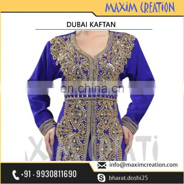 New Moroccan Dubai Hand Made Embroidery Caftan Dress