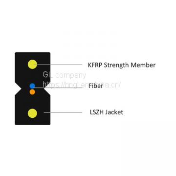 LZSH outer sheath Indoor Bow-type Drop FTTH Cable