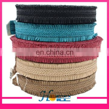 Latest design 4.4cm width knitted cord for decoration piping webbing piping cord for shoe