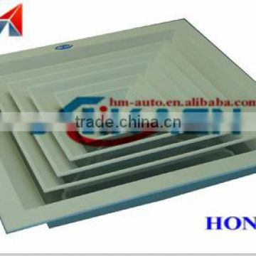 Square air diffuser without grille for outlet air