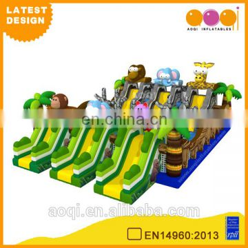 2015 AOQI latest design giant safari zoo inflatable fun city for kids for sale