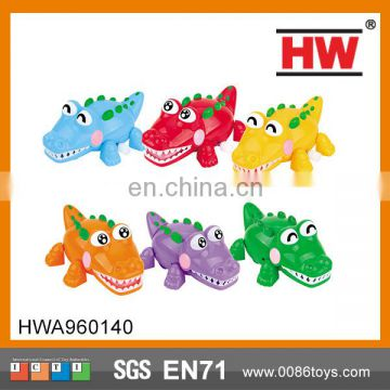 10CM The Solid Color Happy Little Crocodile Wind Up Toys For Kids