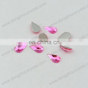 DZ-1003 drop shape flat back crystal fancy stones for jewelry making