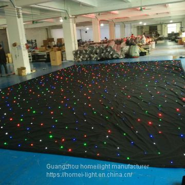 RGBW star curtain led sky star cloth stage backdrop with DMX