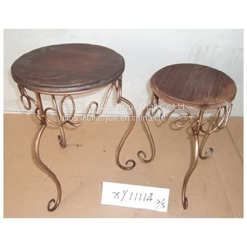 metal outdoor folding table coffer table round table
