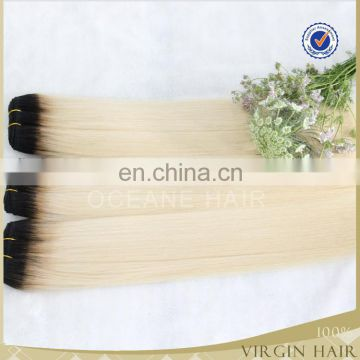 New arrival wholesale ombre bundles 100% remy human hair extension,sew in human hair weave ombre hair
