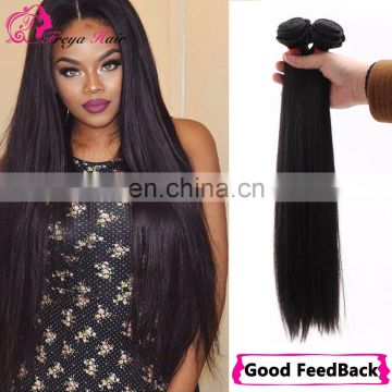 Natural Color Silk Staight No Tangle No Shed Virgin Brazilian Human Hair Weave