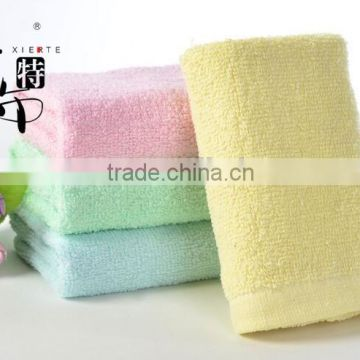 Quick drying customized face towel made from plain weave cotton