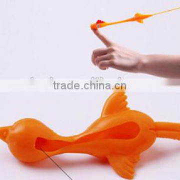 2016 Hot Novelty TPR catapult bird toy /sticky animal kids toy