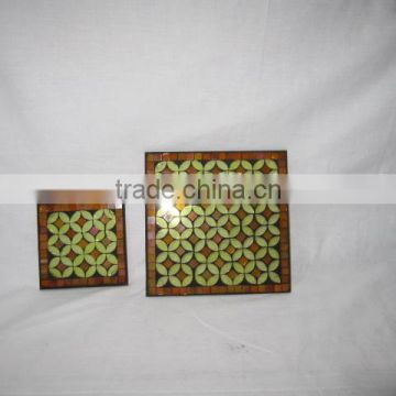 mosaic glass customized plate