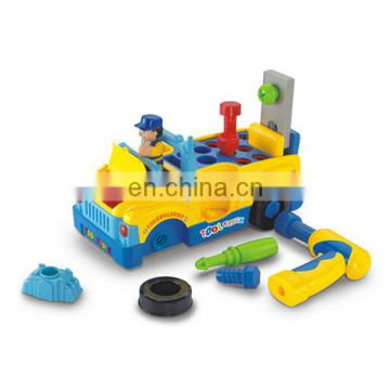 Electric toy car tool truck with music and light for children