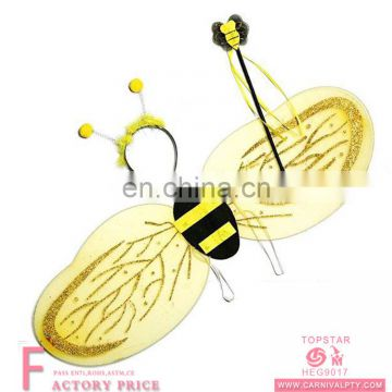 Halloween bumble bee wings set with antennae headband flower wand costume set