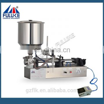Semi-auto Pneumatic Horizontal glass liquid wash filling machine