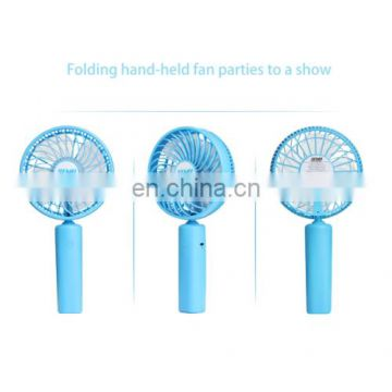 360 Degree Rotate Handheld Rechargeable Mini Battery Fan with 3 Speed Control (Black)