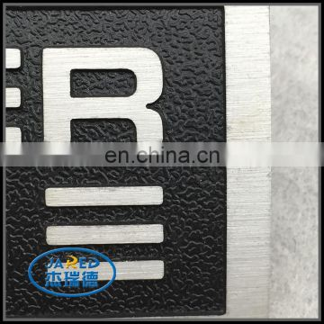 Promotional Products Custom Name Metal Crafts Brushed and Painting Aluminum Label for Cars
