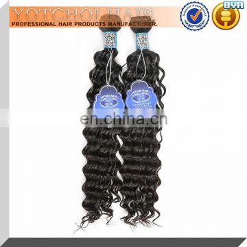 China factory supply 100% unprocessed good thick very cheap human hair weft