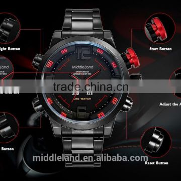 2015 MIDDLELAND men's fashion original Military manufacturer Sports Watches alibaba wholesale wristwatches
