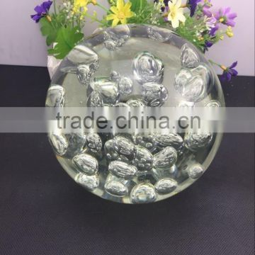 wholesale price factory directly sale K9 crystal bubble ball 150mm size for home decoration gift