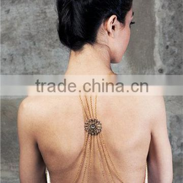 Hollow flower body jewelry body chain