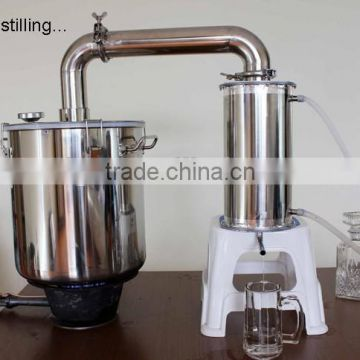 Large Capa!45L Household Stainless Steel Water Seal Alochol Distiller For Sale Home Wine Distiller Distillation/Brewing Device