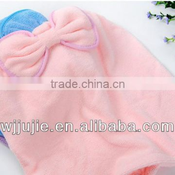microfiber hair-drying towel with hood