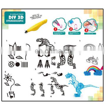 Funny children toys diy 3d printer pen play game set wholesale