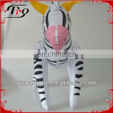 plastic animal inflatable zebra toy