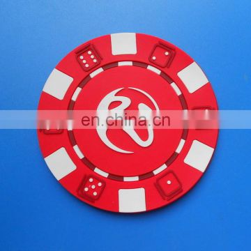 red colors popular promotional gifts rubber drink coaster cup mat
