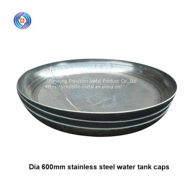China manufacturer stainless steel hemisphere end cap dished head