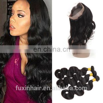 ian loose wave hair 360 lace frontal with bundles transparent lace closure