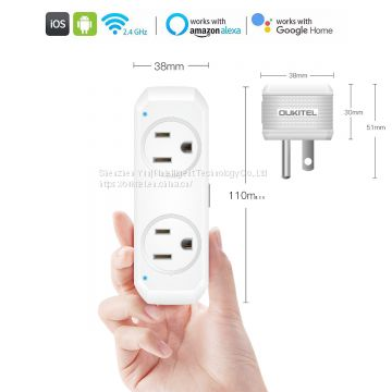 Oukitel smart socket US standard smart wifi plug app control socket