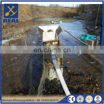 Sluice box highbanker small portable gold mining equipment with rubber mat