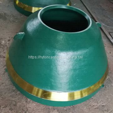casting parts bowl liner mantle of high manganese steel suit gp220 metso nordberg cone crusher
