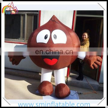 Promotion inflatable fruit model, fresh pear moving model for outdoor display, advertising fruit cartoon model for sale