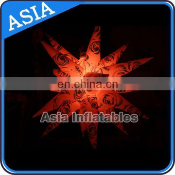 Event Lighting Decor Hanging Inflatable Star For Club / Bar / Party