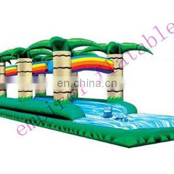 High quality coconut palm water slide with pool WS038