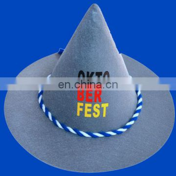 2016 hot sell Bavarian felt hat for Germany beer festival