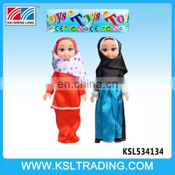 Wholesale arabic music IC girl toys 14 inch muslim baby doll