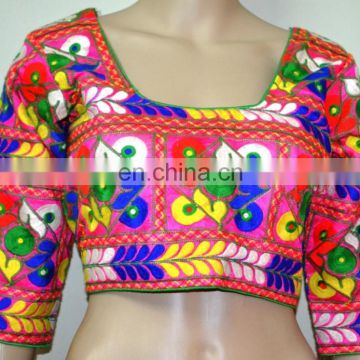 Designer Pink Kutch Embroidery Blouse for women