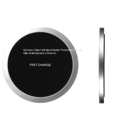 2018 Newest Portable Fast Charging Pad Battery Charger Plate Qi Wireless Charger mobile phone power bank for Iphone/Sams