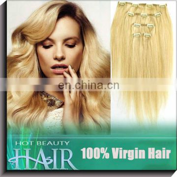 Wholesale straight Ponytail 100% virgin remy human hair clip ponytail