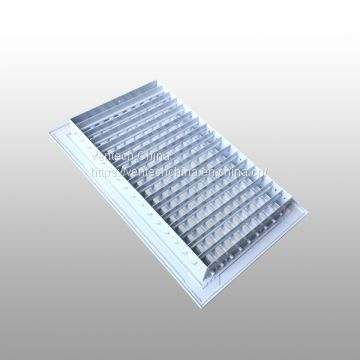 aluminum double deflection supply register hvac system