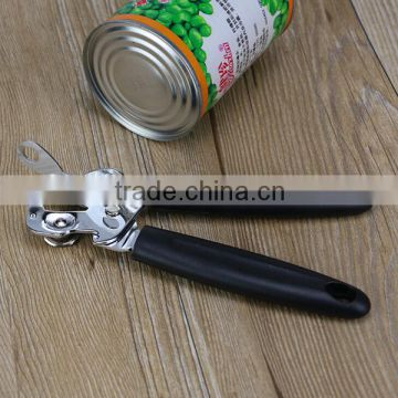 Factory High quality stainless steel+ food grade PP manual can opener metal bottle opener logo customized