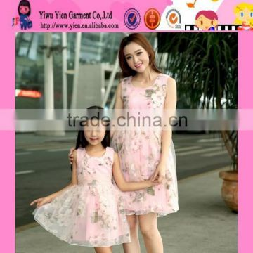 2015 Mommy And Me Short Lace Dress Mother And Daughter Fress Design Baby Clothing Wholesale Girls Birthday Dresses