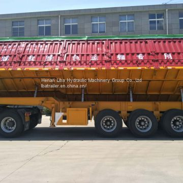 China 60 Ton Capacity Side Dump Semi-trailer Refrigerated Tipper Semi Trailer For Sale