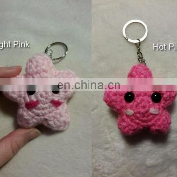 crochet Star Keychain,amigurumi star,kawaii star, lucky star