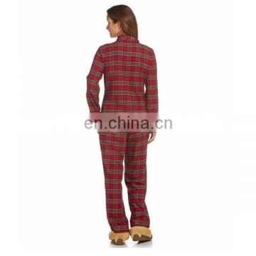 Women's Cotton Flannel Thick Pajama Set