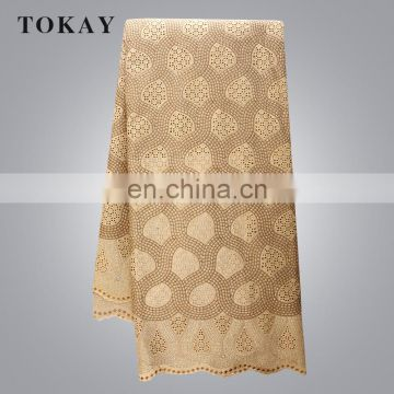 Most Popular Swiss Cotton Lace Fabric In High Quality