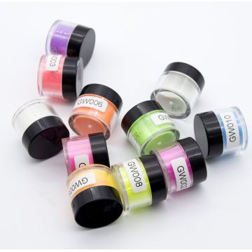 Queen shining colorful acrylic nail dip powder nail holographic glitter powder glow in dark for dipping nails