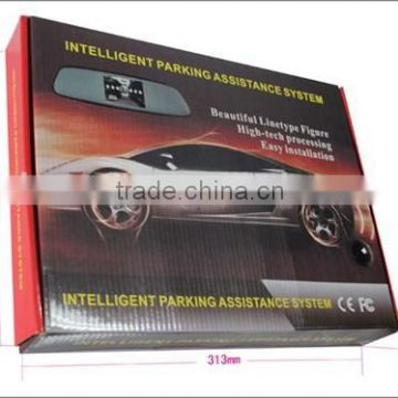 Wireless parking sensor with car backup reverse camera ,4.3inch lcd mirror with, 4 waterproof sensors                                                                         Quality Choice